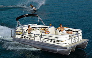 Pontoon Boat Rentals and Water Skiing